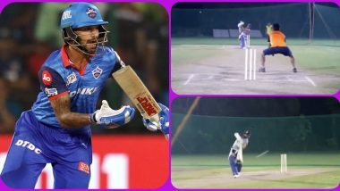 IPL 2020 Player Update: Shikhar Dhawan Starts Preparation for Upcoming Season in UAE, Delhi Capitals Batsman Hits Nets (Watch Video)