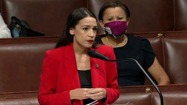 Alexandria Ocasio-Cortez Calls Out Republican Congressman Ted Yoho Over Sexist Slur; Watch Viral Video of Her Speech