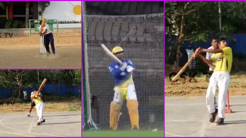 MS Dhoni Helicopter Shot: Chennai Super Kings Posts Kids Version of Famous Dhoni Stroke As Captain Cool Turns 39 (Watch Video)