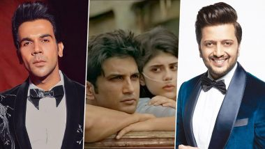 Dil Bechara Trailer: Rajkummar Rao, Riteish Deshmukh and Others Cheer for Sushant Singh Rajput's Last On-Screen Outing (View Tweets)