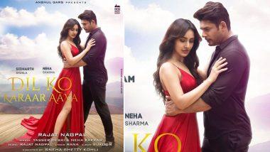 Dil Ko Karaar Aaya: Sidharth Shukla Drops a Romantic Poster With Neha Sharma, Reveals the Song's Release Date!