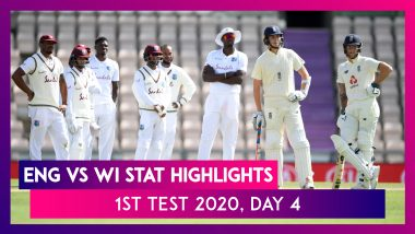 ENG vs WI Stat Highlights, 1st Test 2020, Day 4: Zak Crawley Best Score Gives Hosts 170-Run Lead