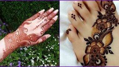 Quick 5-Minute Mehndi Designs For Sawan Somvar 2020: Easy Yet New Traditional Indian Mehandi Tips and Tricks to Apply Beautiful Henna Patterns During Shravan Month