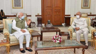 PM Narendra Modi Meets President Ram Nath Kovind, Briefs Him on Issues of National, International Importance