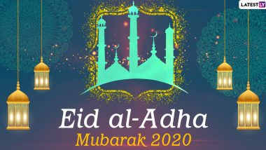Eid Al-Adha Mubarak Images & Eid ul-Adha HD Wallpapers for Free Download Online: Wish Happy Bakrid 2020 With WhatsApp Stickers and GIF Greetings