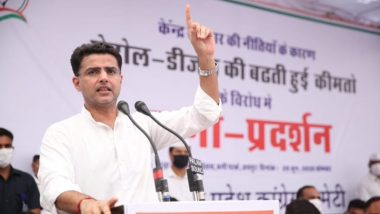 Sachin Pilot's Posters Back at Congress Headquarters After Party Says 'Doors Open For All' Amid Rajasthan Political Crisis
