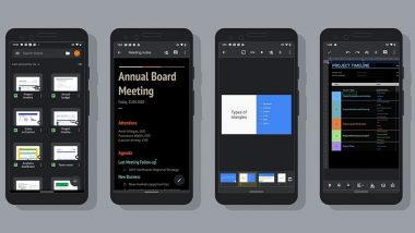 Google Docs, Google Sheets & Google Slides Get Dark Mode Feature on Android