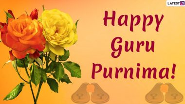 Guru Purnima 2020 Greetings: WhatsApp Stickers, Facebook Greetings, GIFs, Quotes, SMS and to Wish Your Beloved Teachers