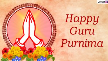 Happy Guru Purnima 2020 Wishes and HD Images: WhatsApp Stickers, GIFs, Facebook Photos, SMS and Greetings to Send Messages to Your Teachers