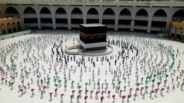 Hajj 2020 in Photos and Videos: Beautiful Pics of Social Distancing in Hajj 1441 in Mecca Go Viral Online