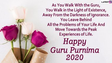 Happy Guru Purnima 2020 Messages: WhatsApp Stickers, Quotes, SMS and Wishes to Greet Your Teachers