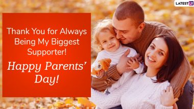 Happy Parents Day 2020 Greetings: WhatsApp Stickers, Facebook Quotes, Instagram Stories, GIF Images, Messages And SMS to Express Gratitude to Your Parents