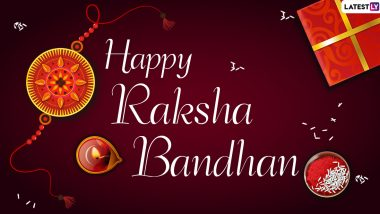 Happy Raksha Bandhan Images & HD Wallpapers for Free Download Online: WhatsApp Stickers, Facebook Quotes, GIF Greetings and SMS to Send Messages of Happy Rakhi 2020!