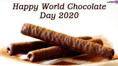 Happy World Chocolate Day 2020 Wishes & HD Images: WhatsApp Stickers, GIFs, Facebook Messages, SMS and Greetings to Celebrate Chocolate!