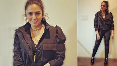 When Huma Qureshi Channelled Her Inner Bappi da With an Accompanying Monochrome Chic-Sleek Look!