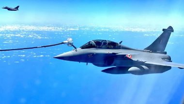 Rafale Jets Enroute India Refueled Mid-Air by French Air Force Tanker, IAF Shares Breathtaking Pics