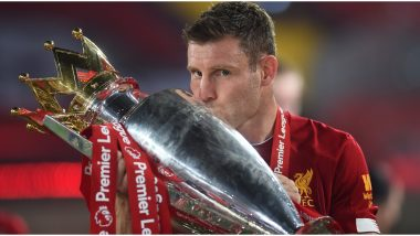 James Milner Aims Explicit Jibe at Manchester United During Liverpool Premier League 2019-20 Trophy Celebrations (Watch Video)