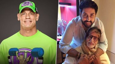 WWE Legend John Cena Posts A Photo Of Amitabh And Abhishek Bachchan After The Two Test COVID-19 Positive