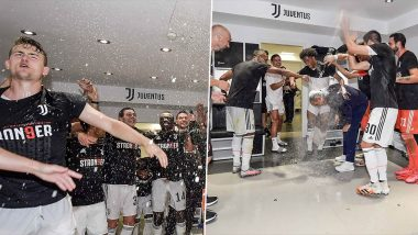 Juventus Share Pictures of Cristiano Ronaldo and Co. Celebrating Serie A 2019–20 Title Win Ahead of Their Trip to Cagliari (See Post)
