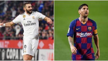 Lionel Messi Voted Second Best Footballer in La Liga 2019–20; Real Madrid Forward Karim Benzema Takes Top Spot