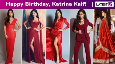 Katrina Kaif Birthday Special: A Shade of Red for Every Mood, Her Fashion Code and Showstopper Colour for All Seasons!