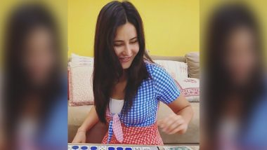 Katrina Kaif Enjoying a Play Date Looking Thrifty Chic Rs.1000 Colourblock Gingham Dress!