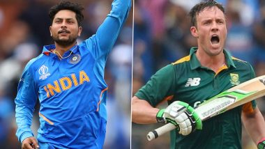 Kuldeep Yadav Picks AB de Villiers As the Toughest Batsman to Bowl in ODIs, Says 'It's a Good Thing That He's Retired'