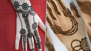 New Eid al-Adha 2020 Easy Arabic Mehendi Designs for Hands: Latest Simple DIY Mehndi Images & Indian Henna Patterns to Adorn Your Palms This Bakrid (Watch Videos)