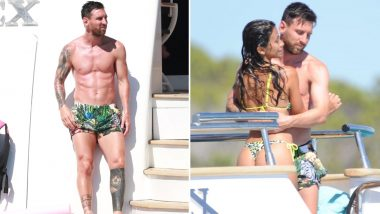 Lionel Messi, Wife Antonela Roccuzzo Flaunt Stunning Tanned Bodies While Holidaying in Ibiza, Luis Suarez and Wife Sofia Balbi Also Present (See Pics)