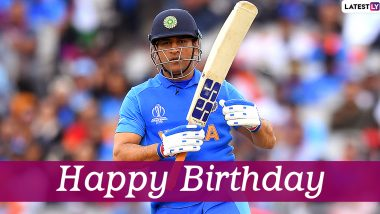 MS Dhoni: Fans Trend 'HappyBirthdayMsDhoni' on Twitter Ahead of the Former Indian Captain's Birthday