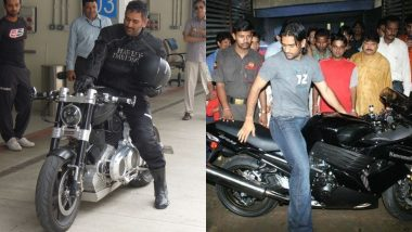 MS Dhoni Birthday Special: As the Former Indian Captain Turns 39, Take a Look at His Famous Bikes and Car Collection