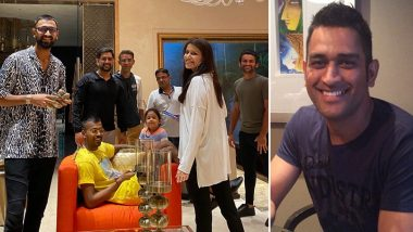 MS Dhoni Birthday Pic: Sakshi Dhoni Shares Throwback Photo of Hardik and Krunal Pandya With CSK Captian