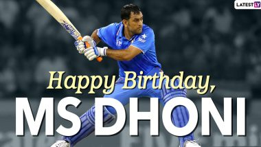 MS Dhoni Images & HD Wallpapers for Free Download: Happy Birthday Dhoni Greetings, HD Photos in Chennai Super Kings & Team India Jersey and Positive Messages to Share Online