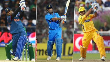 MS Dhoni Birthday Special: Huge Sixes by Former Indian Captain That Will Leave You Jaw-Dropped (Watch Videos)