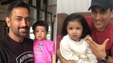 MS Dhoni Birthday Special: Times When Former Indian Captain and His Daughter Ziva Dazzled Social Media (Photos and Videos Inside)