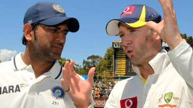 ICC Shares Throwback Picture of MS Dhoni and Michael Clarke, Fans Come Up with Hilarious Captions