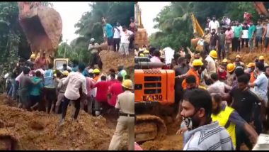 Mangaluru Landslide: Karnataka CM BS Yediyurappa Announces an Ex-gratia of Rs 5 Lakh Each for Victims' Kin