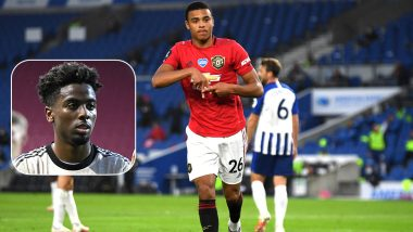 Manchester United Forward Mason Greenwood Pays Tribute to Departing Teammate Angel Gomes With Goal Celebration (Watch Video)
