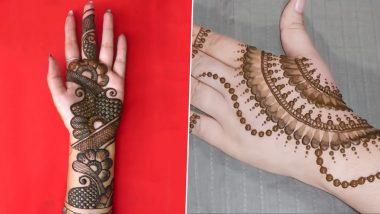 Latest Eid al-Adha 2020 Mehndi Designs: Simple 5-Minute Mehendi Designs & Indian Henna Patterns to Apply on Your Palms Ahead of Bakrid (Watch DIY Videos)