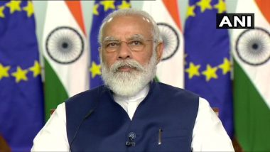 India-EU Summit 2020: PM Narendra Modi Calls For 'Long-Term Joint Strategy' to Combat COVID-19 and Climate Change