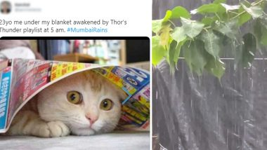 #MumbaiRains Trends Online With Pics, Videos and Funny Memes As Mumbaikars Wake Up To Thundering and Rainy Weather