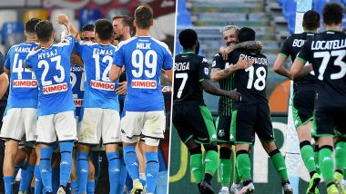 Napoli vs Sassuolo, Serie A 2019–20 Free Live Streaming Online & Match Time in IST: How to Get Live Telecast on TV & Football Score Updates in India?