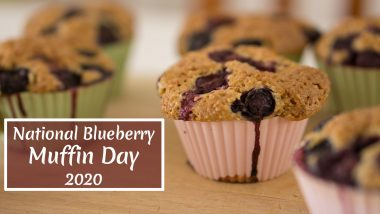 National Blueberry Muffin Day 2020: Quick And Easy Recipe to Bake Soft And Moist Muffins at Home (Watch Video)