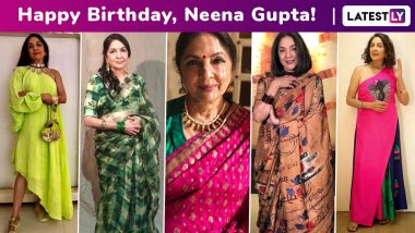 Neena Gupta Birthday Special: The Veteran Actress Is a New- Age Muse to Daughter Masaba Gupta, One Striking Ensemble After Another!