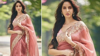 Nora Fatehi Swaps Oomph for Six Yards of Unrecognisable Elegance!
