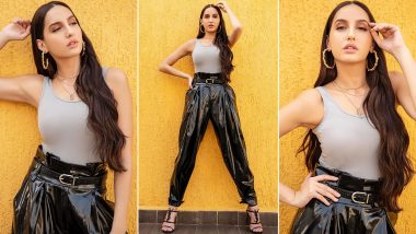 Nora Fatehi's Slick and Sassy Latex Fetish in This Throwback Style!
