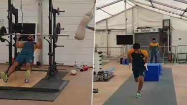 Babar Azam, Azhar Ali and Other Pakistan Cricketers Hit the Gym Hard Ahead of Test Series Against England (Watch Video)