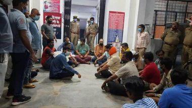 UP BJP MLA Pankaj Gupta Holds Overnight Protest Outside Sadar Police Station in Unnao, Alleges 'Negligent Attitude' of Policemen