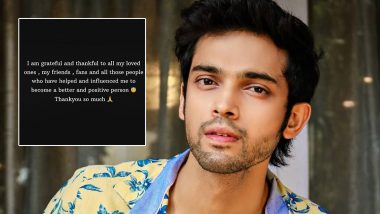 Parth Samthaan Admits Going Through Depression and Sadness Amid the Lockdown, Sends Out Positivity to All (View Post)