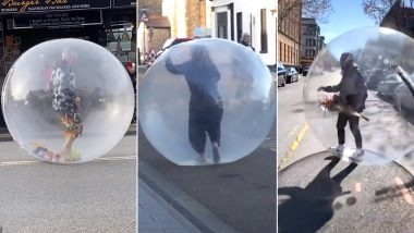 Melbourne Man Walking in a Bubble to Maintain Social Distancing is Going Viral But He's Not The Only One! Other Times When People Used Huge Plastic Bubbles and Zorbing Ball to Keep The Distance (Check Viral Videos)